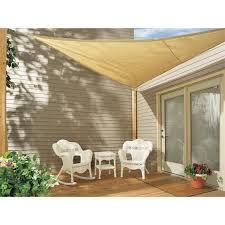 coolaroo outdoor shades. 16\u0027 Coolaroo Triangle Shade Sail Kit 101853, Patio Outdoor Shades
