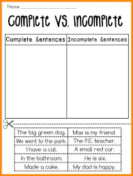 Complete And Incomplete Sentence Worksheets Worksheets for all ...