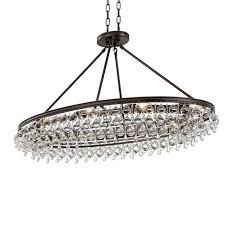 crystorama calypso 8 light crystal teardrop vibrant bronze oval chandelier view larger image