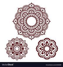 Henna Pattern Unique Indian Henna Tattoo Round Design Mehndi Pattern Vector Image