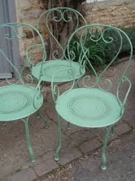 French metal garden chairs