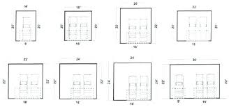two car garage minimum dimensions 2 car garage door width width of two car garage standard