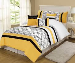 yellow black and white duvet covers