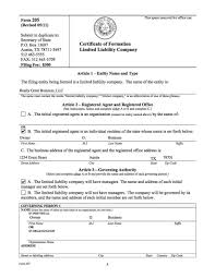 Michigan Llc Forms Pdf Resume Examples