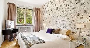 swedish idea wallpaper in bedroom