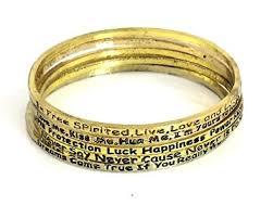 urban chic jewelry inspire bangle bracelets set of five goldtone