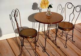 ice cream parlour chairs vintage parlor table chair seats