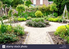 Herb Kitchen Garden A Formal Herb Or Kitchen Garden In The Grounds Of An English
