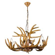 extraordinary hanging lamp waleah with antlers 6 4014874 01