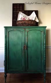painted green furniture. sold vintage hand painted armoire annie sloan chalk paint green farmhouse cottage shabby chic pick up only furniture e