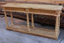 reclaimed wood console tables and sofa tables  barnwood console