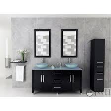 sirius 59 modern double vessel sink bathroom vanity gl top