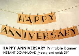 happy anniversary banners diy printable happy anniversary banner prints on 8 5 x 11 card