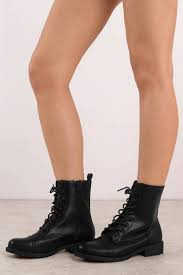 jane black lace up combat boots