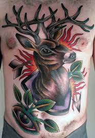 40 Tradiční Vzory Tetování Jelena Pro Muže Nápady Na Zvířata