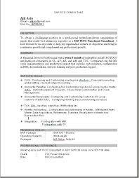 Pin By Jai On Sap Resume Pdf Resume Format Sample Resume