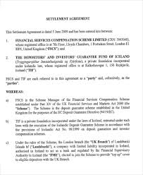 Master Settlement Agreement New 48 Settlement Agreement Samples Sample Templates