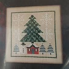 Birds Of A Feather Winter Home Counted Cross Stitch Chart