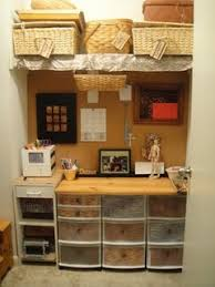kitchen office wwwsomuchbetterwithagecom kitchen office cabinet. Office Or Craft Organization For A Small Area/closet. In Kitchen Area Wwwsomuchbetterwithagecom Cabinet