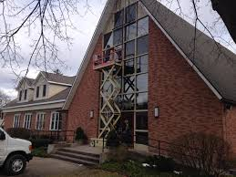 replacing windows of a church