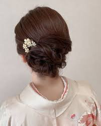 Moriyama Mamiさんのヘアスタイル 結婚式お呼ばれ訪問着ヘア