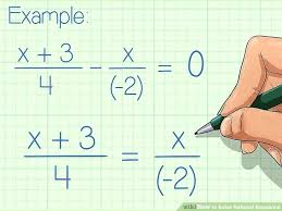 solving rational equations by cross multiplying worksheet math cross multiplying image titled solve rational equations step
