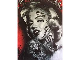 Obraz Marilyn Monroe Tattoo 7050 Cm