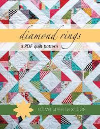 PDF quilt pattern // diamond rings | Quilting patterns | Pinterest ... & PDF quilt pattern // diamond rings Adamdwight.com