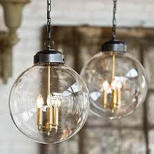 image of glass large pendant lighting