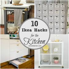 These brilliant IKEA hacks are great for adding storage to the kitchen.  From bar carts