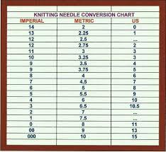 Knitit Knitting Needle Size Chart