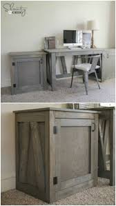 diy desk or nightstand 50 decorative rustic storage projects for a beautifully organized home build rustic office desk