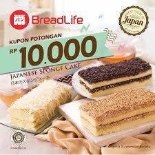 Breadlife Promo Kupon Potongan Rp 10ribu Untuk Pembelian Japanese