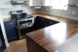Butcher Block Countertops Reviews Our Walnut Countertops Sanded Sealed And Finished Chris Loves