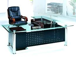 l shaped glass desk l shaped desk glass top modern design glass top computer desk l