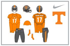 Design Your Own Football Uniform For Fun Vol Nike Alternate Uniform Designs Rocky Top Insider