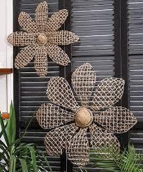 ... Wall Decor For Gardens Metal Flower Wall Art Gray Geomatric ...