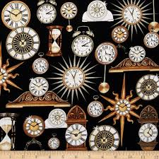 Timeless Clocks Black from @fabricdotcom Designed by Dan Morris ... & Timeless Clocks Black from @fabricdotcom Designed by Dan Morris for Quilting  Treasures, this cotton Adamdwight.com