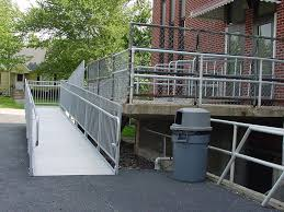 aluminum sectional ramp accessibility entrance
