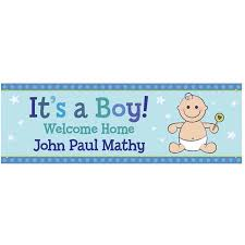 Welcome Home Baby Boy Banner Personalized Its A Boy Welcome Home Ba