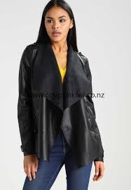 casual faux leather jacket for river island women clothing black gb99694