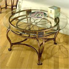 iron and glass coffee table gorgeous round glass top coffee table best ideas about glass top