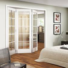 ... Astounding Home Interior Design Using Etched Glass French Doors :  Fascinating Bedroom Decoration With Sliding Panel ...