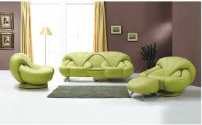 Modern Living Room Chairs The Green Living Room Furniture Will Make A Fresh Impression On