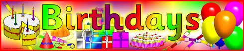 Sparklebox Birthday Charts Birthday Celebrant Word 7 Happy Birthday World
