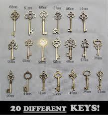 details about old vintage brass skeleton keys antique small large bulk pendant necklace craft