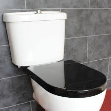 Shape Soft Close Black Toilet Seat With Adjustable Top Or Bottom