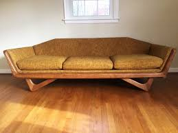 vintage mid century modern couch. Vintage Mid-Century Gondola Sofa In The Style Of Adrian Pearsall Mid Century Modern Couch T