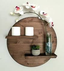 round wall shelf wood round wooden shelf two tier by on wooden wall shelf with slots