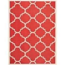 courtyard red 9 ft x 12 ft indoor outdoor area rug